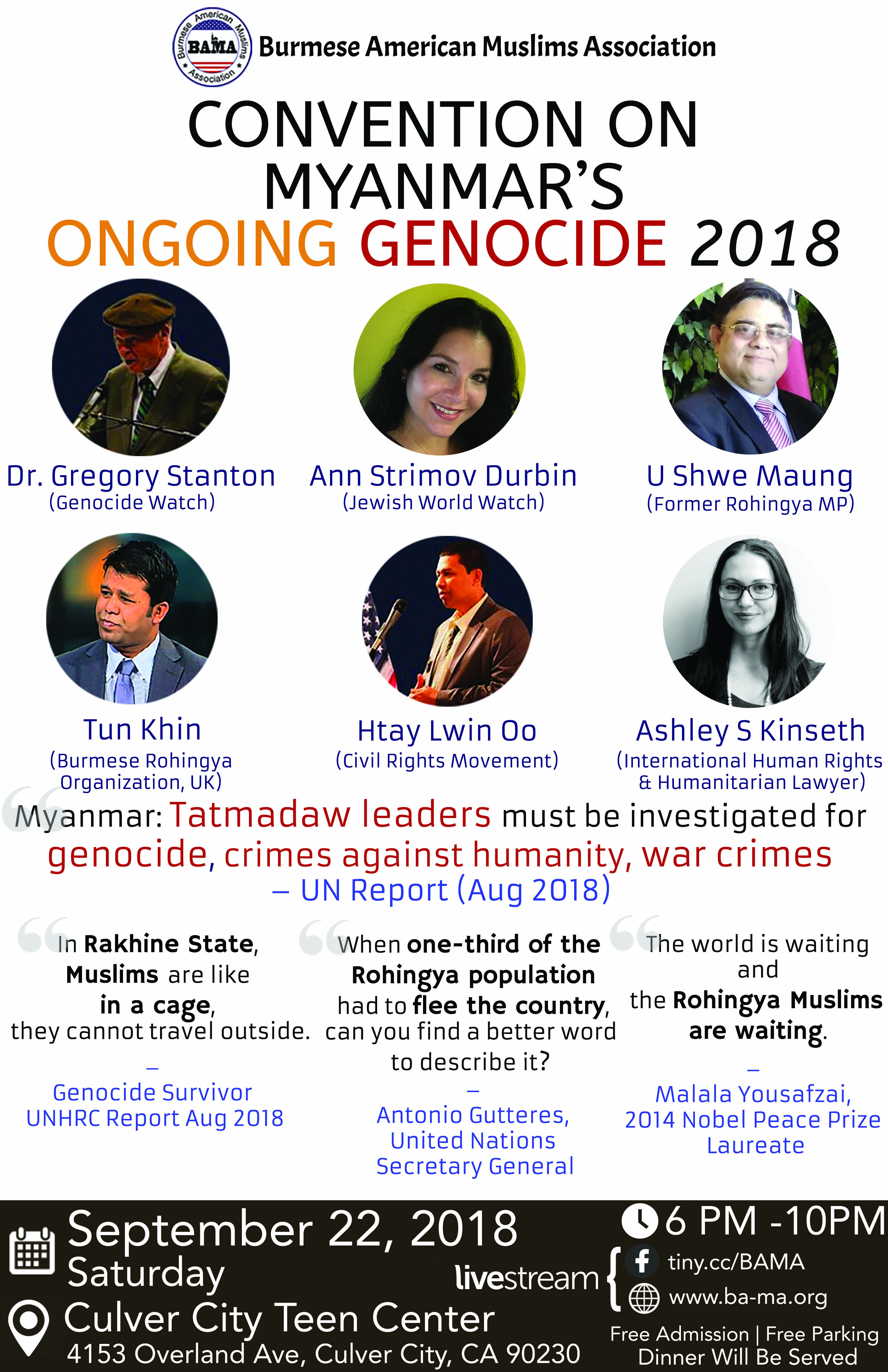 Convention on Myanmar's Ongoing Genocide 2018